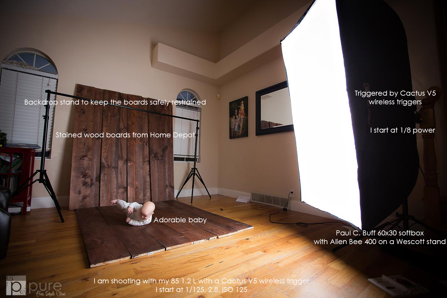 Pure actions for photographers small studio set up with big res